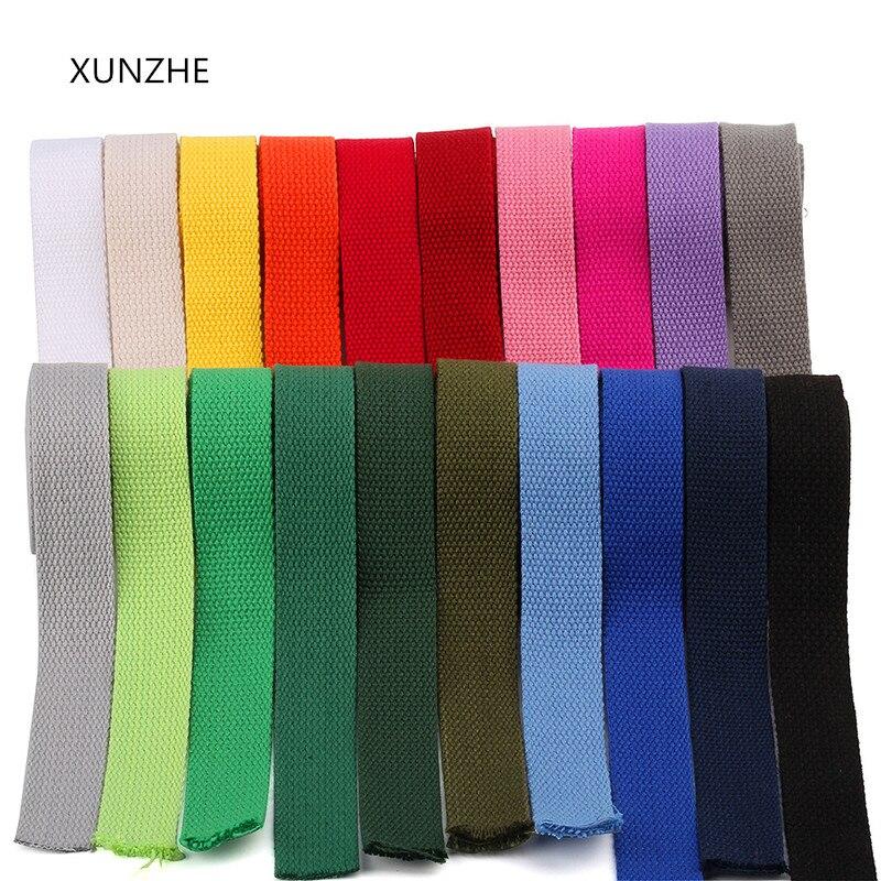 Correa XUNZHE 6m * 25 mm cinta de lona cinta tejida banda de Nylon mochila vinculante bolsa de costura accesorios de cinturón