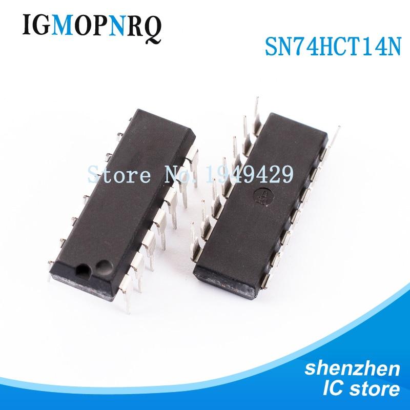 10 piezas SN74HCT14N DIP14 SN74HCT14 74HCT14 74HCT14N convertidor hexagonal disparador nuevo original envío gratis
