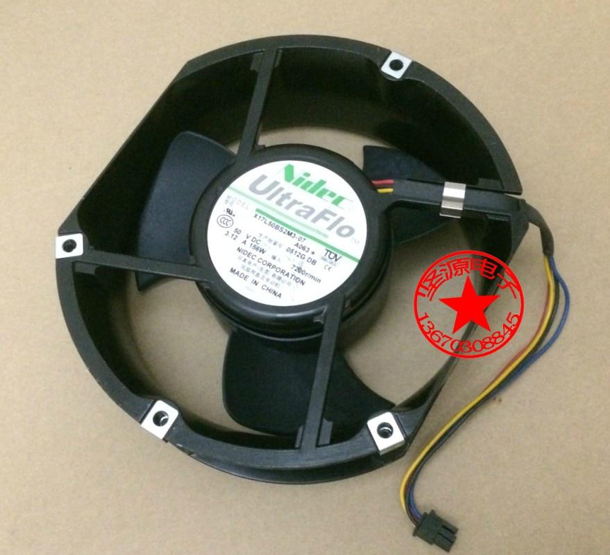 Original autêntica X17L50BS2M3-07 15 CM 50 V 3.12A violência ventilador para Nidec 170*150*50mm