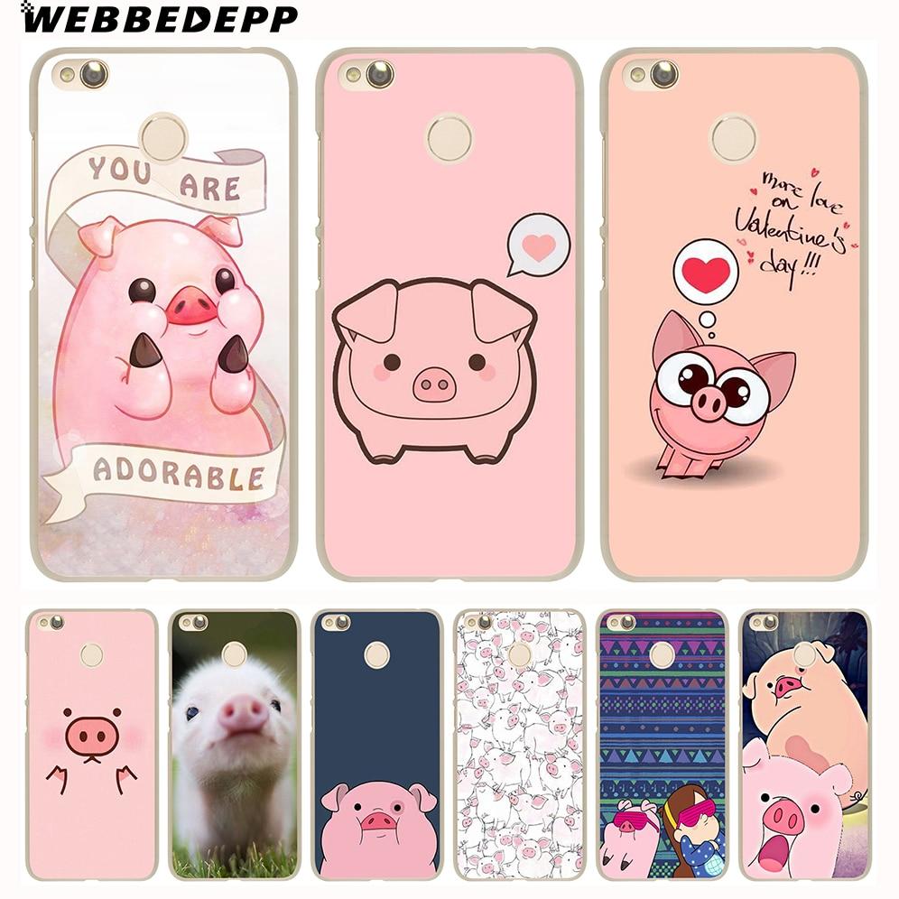 WEBBEDEPP divertido lindo cerdo bonito teléfono carcasa para xiaomi redmi 4X 4A 5A 5 6 Plus Pro 6A S2 7 5 5 5 6 6 7 8 Pro 4X ir cubierta