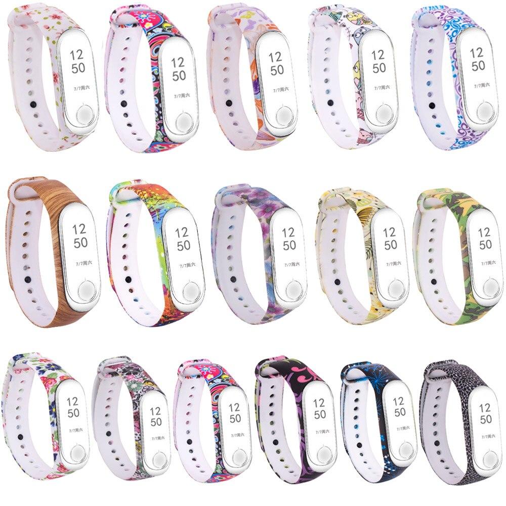 Mi Band 3 Strap Pattern Replacement Band for Xiaomi Mi Band 4 Silicon Sport Watch Bracelet Xiaomi Mi 4 Fitness Wristband Kids