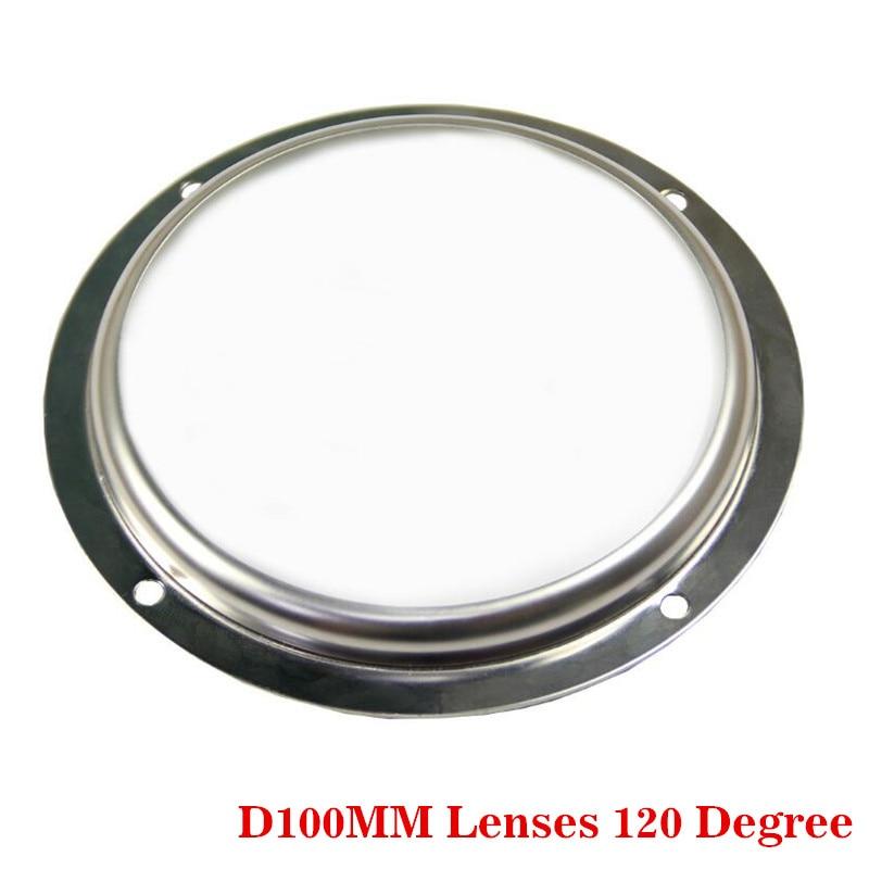 D100mm Lentes de vidrio Ángulo de haz 120 grados para Cree CXA3590 CXB3590 en led calle campana montaje alto reflector