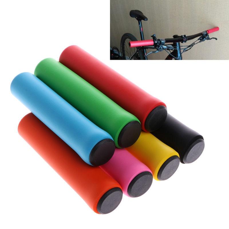 1 par de bicicleta de corrida da motocicleta lidar com barra de espuma de silicone importado material de borracha capa antiderrapante macio guiador peças da bicicleta