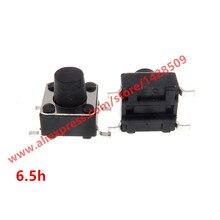 200 stks/partij Mini Micro Momentary Tactile Drukknop 6*6*6.5mm 4 pin toetsen knop SMD