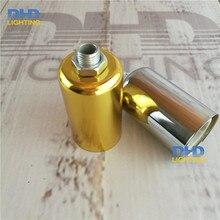 (100 stücke) großhandelspreis E14 gold oder silber Edison glühlampe montage pendelleuchte halter aluminium keramik beleuchtung steckdosen