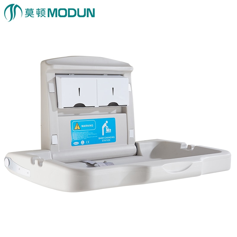 Anti-vandal horizontal vertical infant diaper station baby changing table baby change station