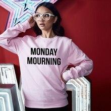 Sugarbaby Monday Mourning Sweatshirt Ladies Womens Mummy Casual Pyjama Lounge Jumper Sweatshirt Trends Pintrest Tumblr Jumper
