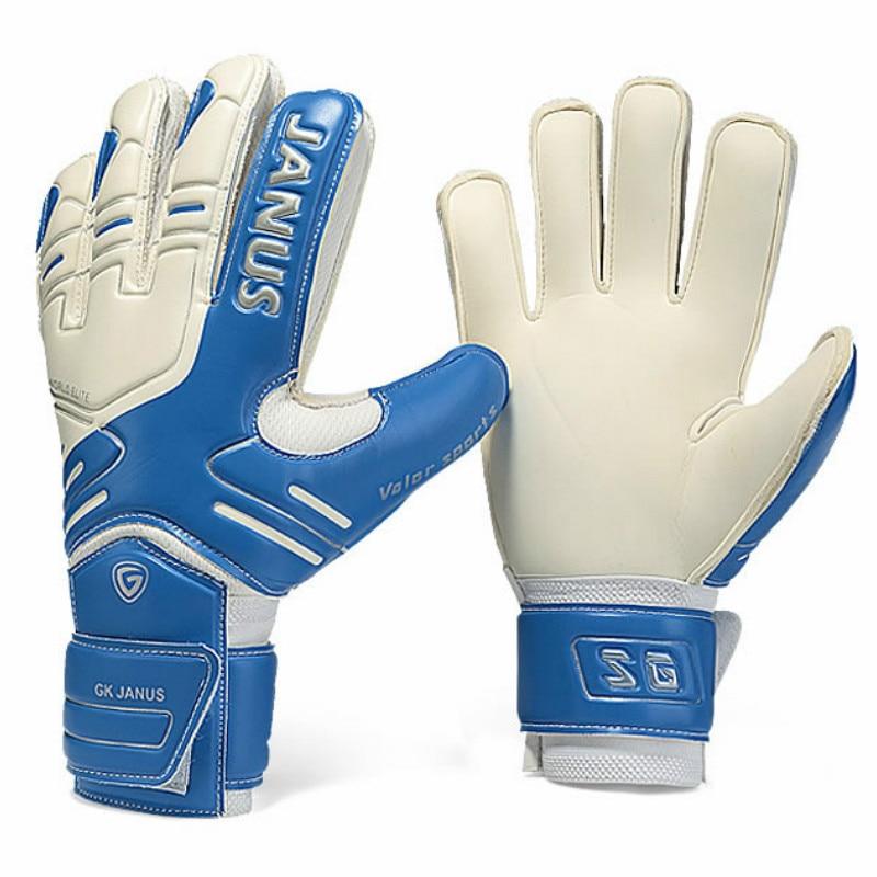 JANUS Marke Professionelle Torwart Handschuhe Finger Schutz Verdickt Latex Fußball Fußball Goalie Handschuhe Ziel keeper Handschuhe