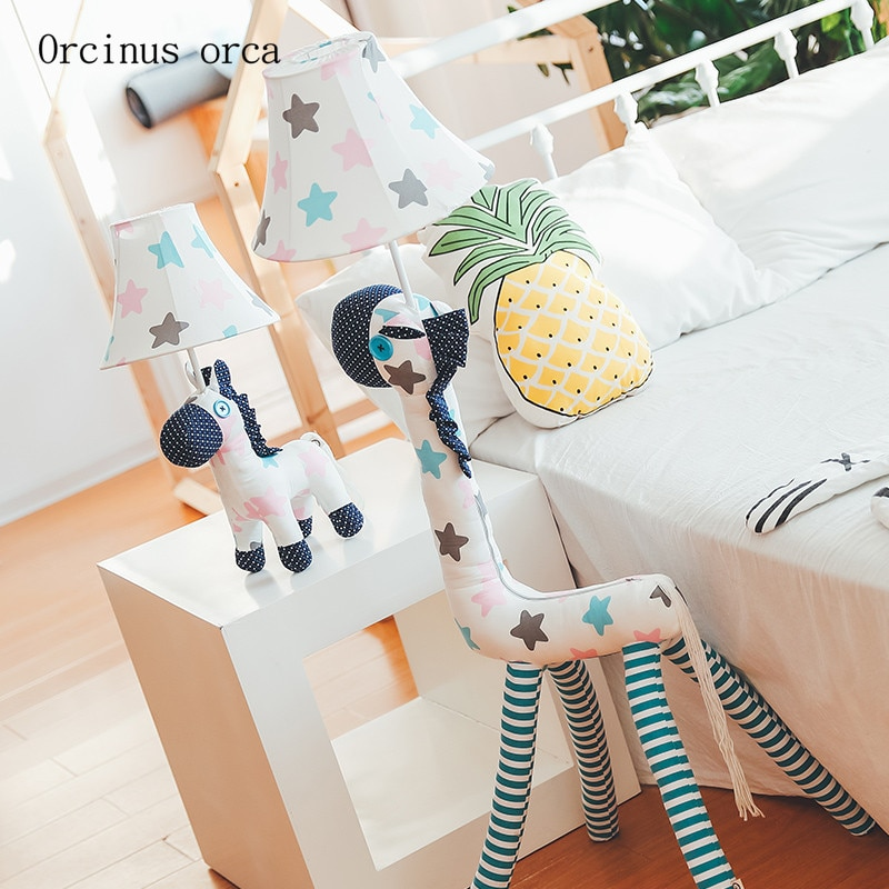 Cartoon animals LED floor lamp living room bedroom bedside lamp modern minimalist creative children's room floor lamp