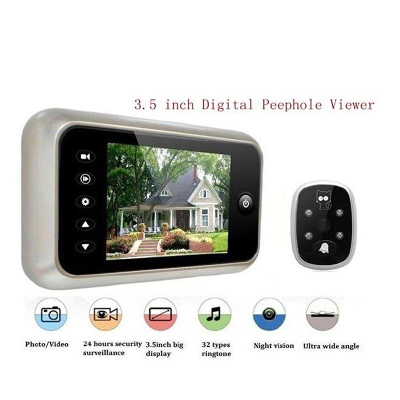 3.5 inch High Definition Digitale Kijkgaatje Viewer 3X Digitale Zoom deur Kijkers Camera met IR LED Nachtzicht Verlichting met doos
