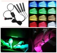 Auto innen LED Neon Licht dekoration für renault duster kia seele lada vesta opel mokka chevrolet aveo vw tiguan Auto styling