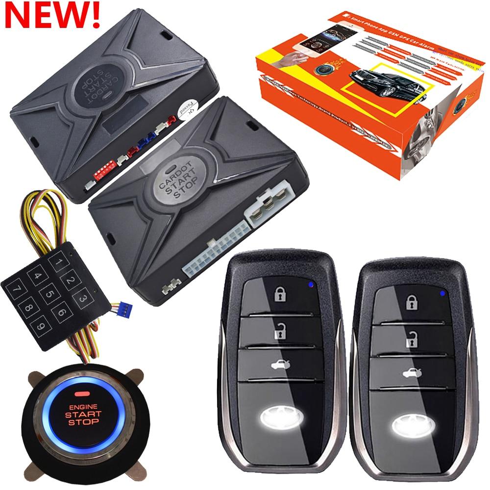 Cardot motor start stop taste remote start-motor starten pke smart auto alarm system