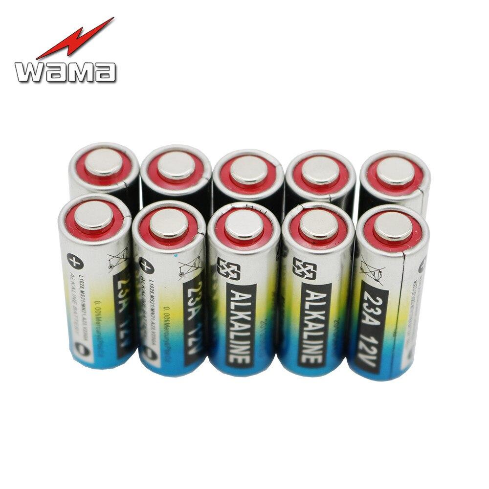 10x Wama 12V 23A primaria pilas 8F10R 8LR23 K23A L1028 23GA A23 A-23 23A alcalina coche control remoto batería electrónica