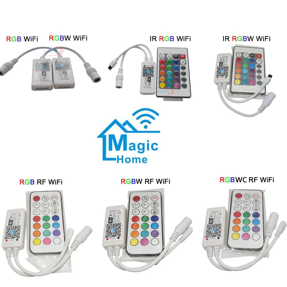 Mini Wireless WIFI LED RGB / RGBW Controller RF Remote Control IOS/Android Smart Phone for RGBCW/RGBWW RGB LED Strip,DC12-24V 2 4g touch screen led rgb rgbw controller wireless dc12 24v touch rf control for rgb rgbw led strip 18a remote controller