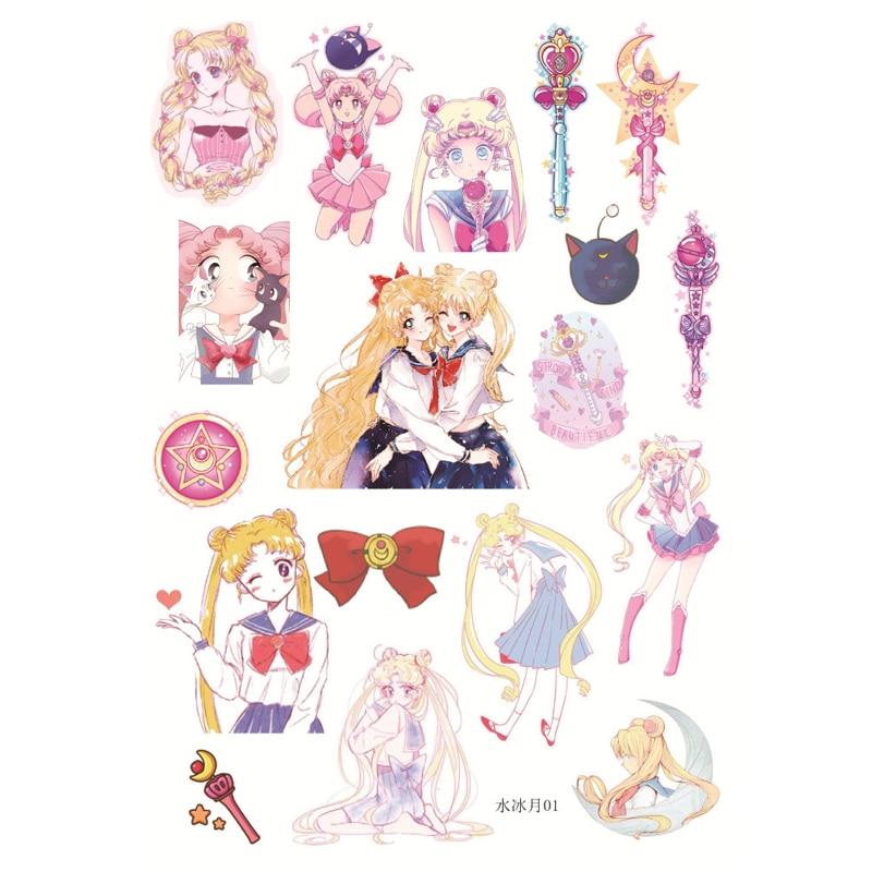 1pcs Japanese cartoon character Sailor Moon Decorative Stickers DIY Scrapbooking photo Label Diary Album Stickers Escolar TZ34