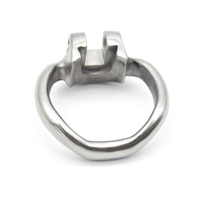 3 Size Choose Male 316L stainless steel Chastity Magic Locker Device Accessories Cock Ring Cages Additional Spares Base Arc Ring
