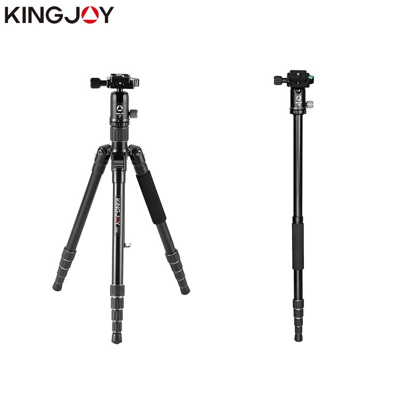KINGJOY Official G22 Tripod Camera Profesional Aluminum Tripe Stand For Models Digital SLR DSLR Holder Stativ Mobile Flexible