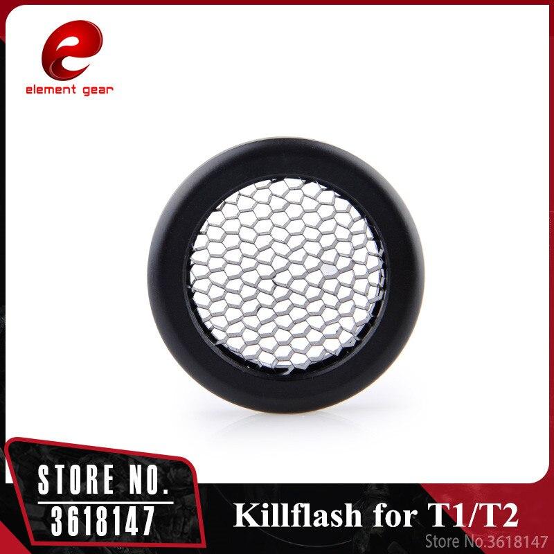 Element airsoft Killflash/matar a Flash Solar punto rojo T-1/T1/T-2/T2/TR02 punto rojo alcance caza Accesorios negro