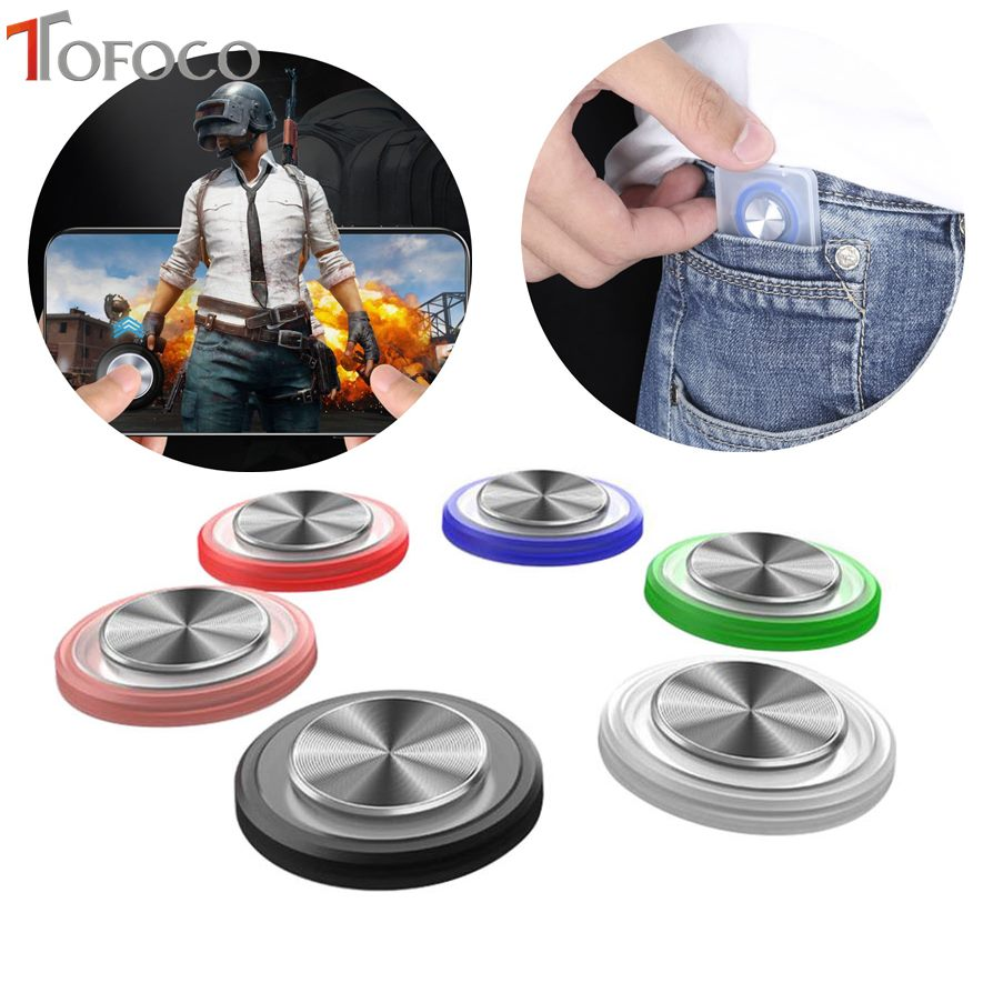 Round Game Joystick Mobile Phone Rocker For Iphone Android Tablet Metal Button Controller For PUBG Controller With Suction Cup