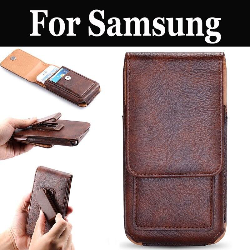 Vertical Clip de cinturón funda de teléfono celular bolsa funda para Samsung Galaxy J4 A3 A3 A5 A5 A6 A6 + A7 A7 A7 A8 A8 A8 + A9 A9 Pro C5 C5 Pro
