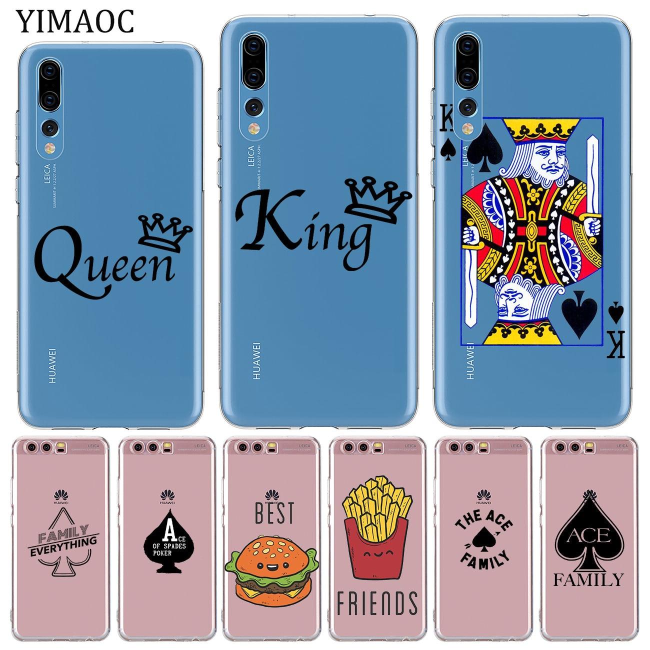 YIMAOC ace-funda de silicona suave para móvil, funda de póker familiar, mejores...