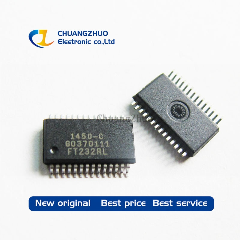 100% calidad original FT232RL FT232RL-REEL USB FS UART serie 28-SSOP