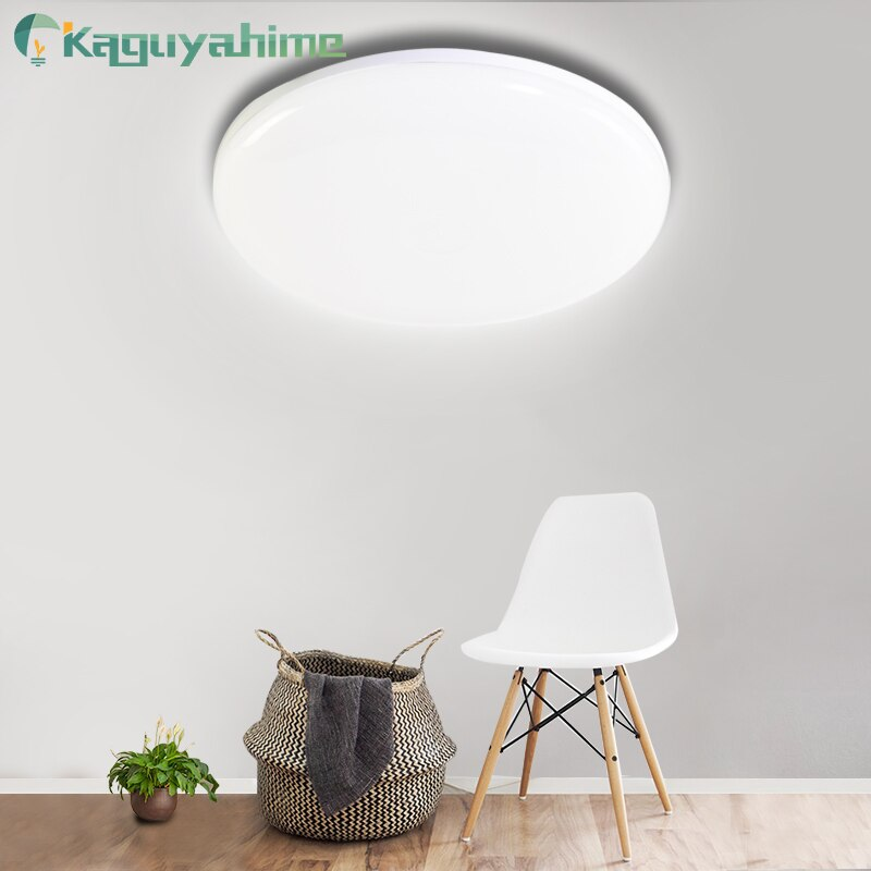 = (K) = Panel de luz LED 18W 24W 36W 48W superficie de techo LED Downlight AC85-265V lámpara de techo redonda para luz decorativa para el hogar