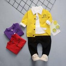 Spring Autumn Children Clothes Baby Boy Girl Jackets T Shirt Pants 3pcs/sets Infant Cotton Garment Kids Fashion Casual Tracksuit