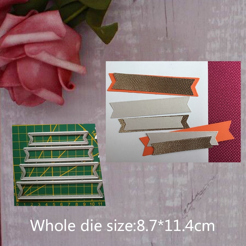 Troqueles rectangulares de Metal de 8,7x11,4 cm para DIY álbum tarjeta de felicitación decoración para scrapbook papel gofrado sellos para manualidades Dies 2019