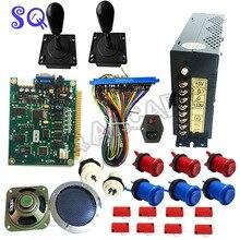 Kit de bricolage de jeu darcade JAMMA classique 60 en 1 avec alimentation, haut-parleur, joystick darcade, bouton-poussoir américain, navire sans fil jamma