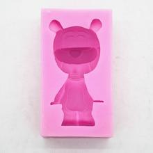 C1150 bear car aromatherapy gypsum air outlet clip chocolate mold fondant decorative moulds