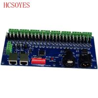(1 pcs/lots) DC12-24V DMX-CC-24CH 8 קבוצות 24 ערוץ dmx512 מפענח להשתמש עבור led רצועת אור