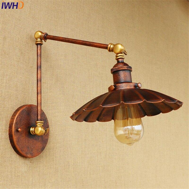 Decoración de Loft Pared Vintage Luz de iluminación Industrial de Edison Swing...