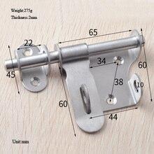 Раздвижной Болт замок для домашнего оборудования, нержавеющая сталь двери безопасности защелка раздвижной замок болт, 1 шт