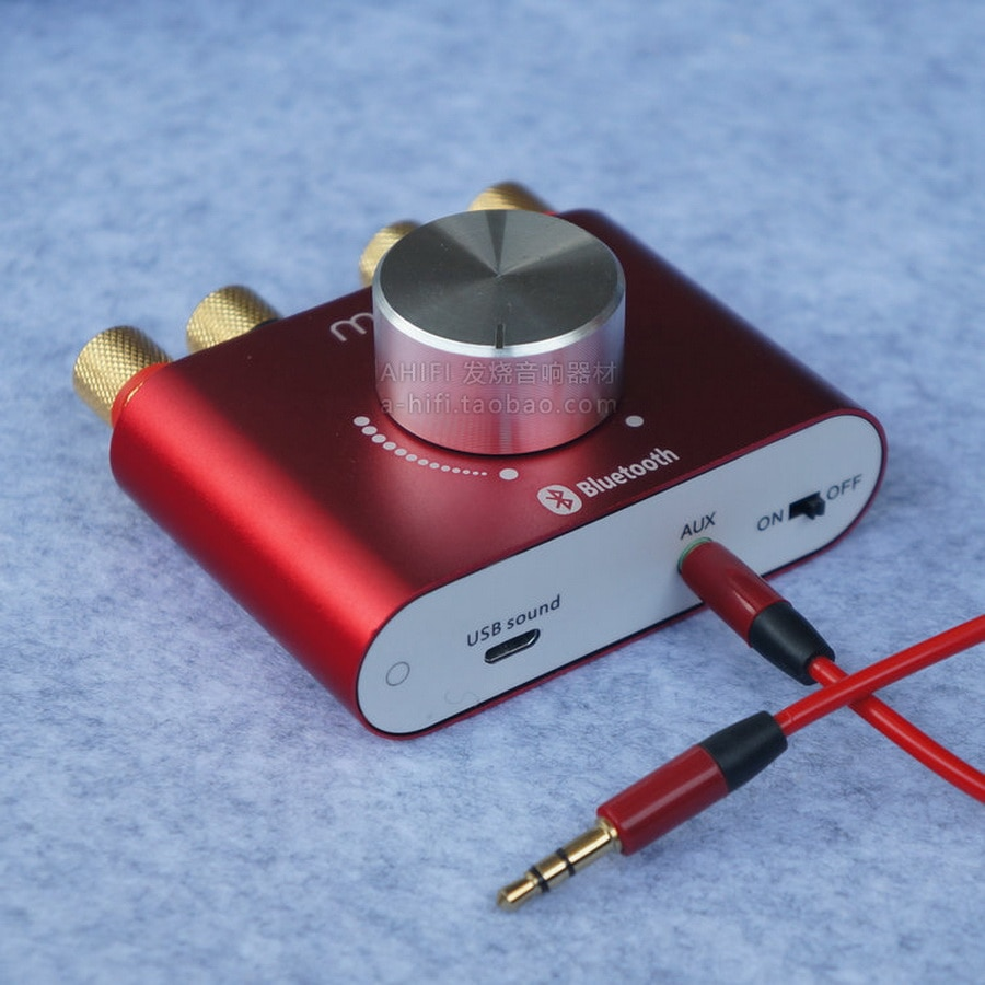 10 Uds Hi-Fi Bluetooth 4,0 amplificador Digital estéreo 2,0 canales Mini TPA3116 amplificador de alta potencia 50W * 2