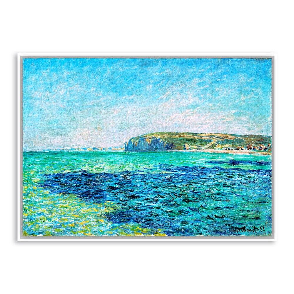 Claude Monet Blue Sea Sky Modern Impressionist A4 Poster Print Original Landscape Famous Canvas Oil Painting Hotel Wall Art Gift