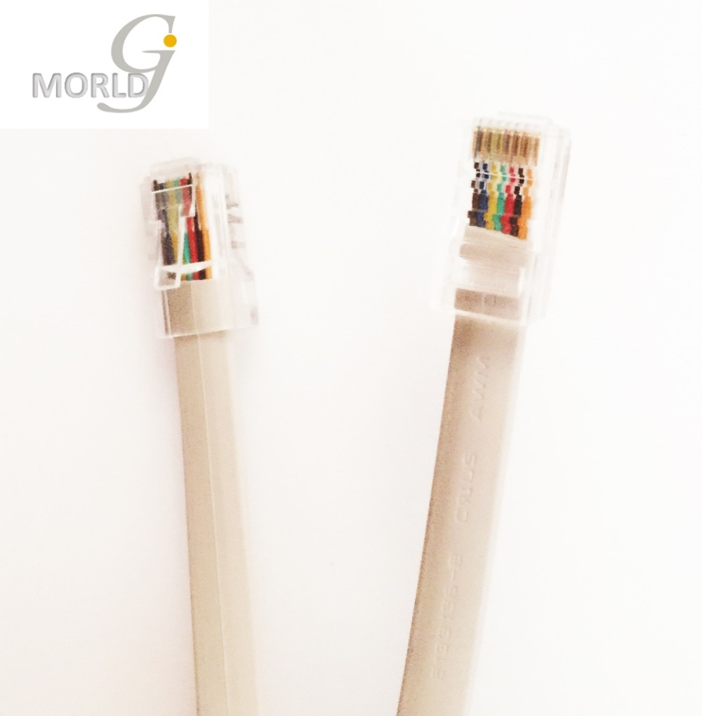 Cable de teléfono redondo de 15 pies de plástico, 4P4C, RJ11, M/M,...