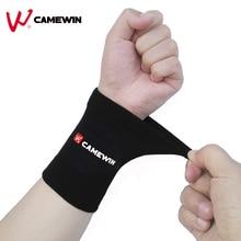 1 paire absorber la sueur poignet soutien orthèse bracelet marque CAMEWIN allongé haute élasticité doux sport poignet protéger noir marron