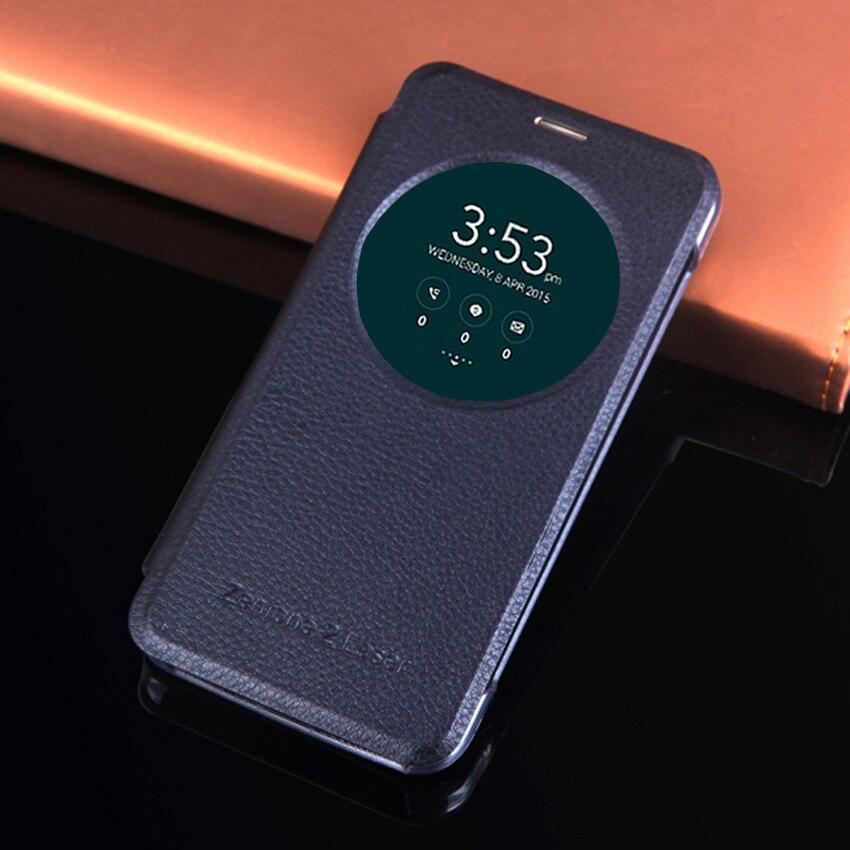 Кожаный чехол для телефона Asus Zenfone 2 3 Laser Zenfone2 Zenfone3 ZE500KL ZE550KL ZC551KL ZE500 ZE550 KL Smart View