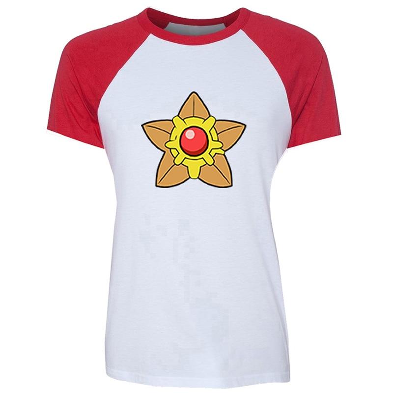 Dibujos Animados Pokemon Pidgeot Staryu weedle Pidgey Psyduck divertido blanco rojo diseño mujer estampado corto camiseta gráfica