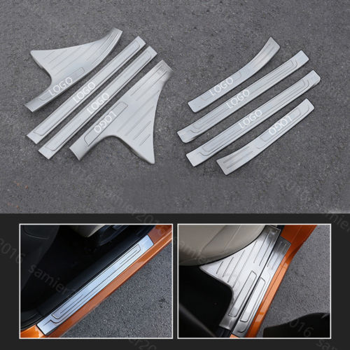 8 Uds ajuste para Honda Civic 16-17 outdoor & Inside Umbral de puerta desgaste Plate Trim