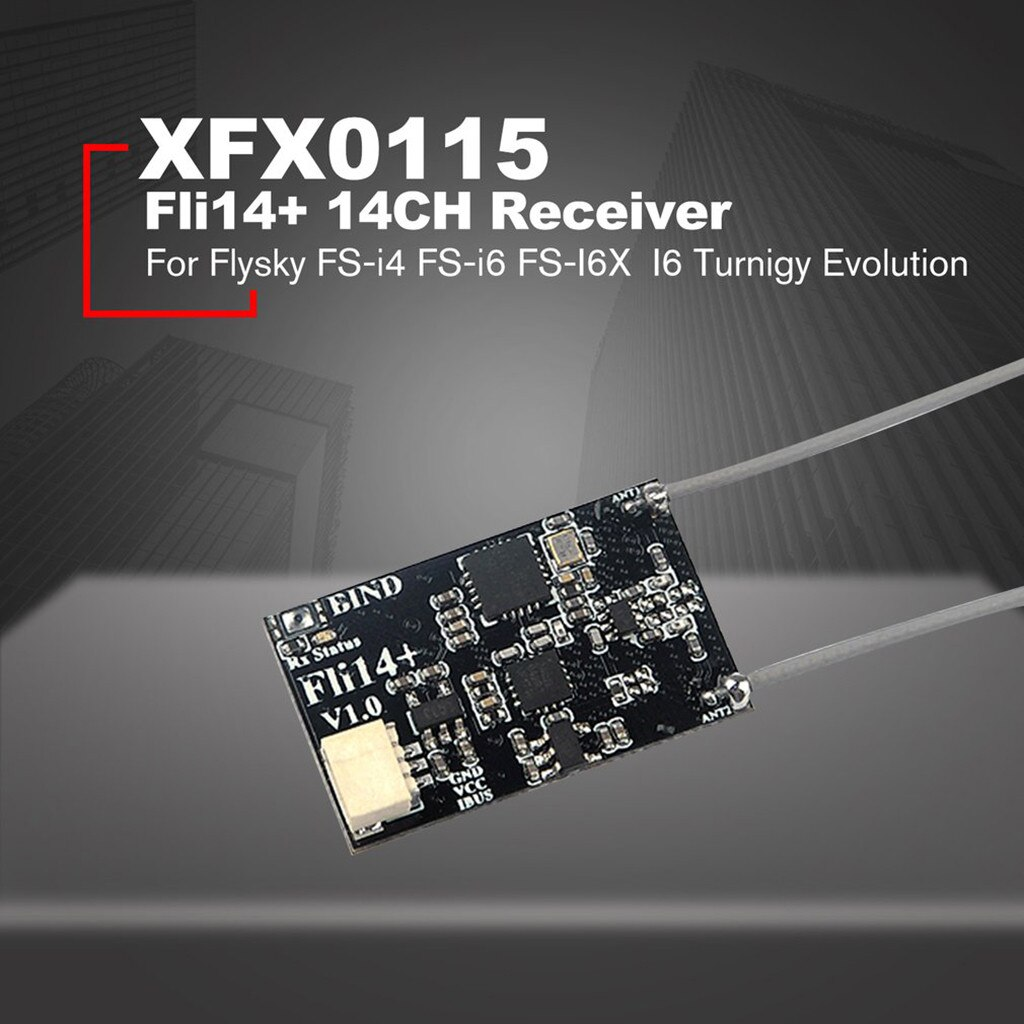 Mini receptor Fli14 + 14CH para Flysky FS-i4 FS-i6 FS-I6X transmisor FS-i6S accesorios para drones RC partes