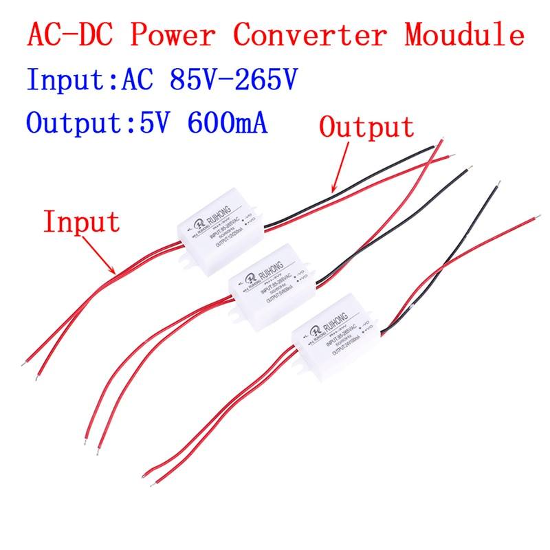 AC-DC блок питания AC110V 220V 230V к DC 3,3 V 5V 12V Мини понижающий преобразователь