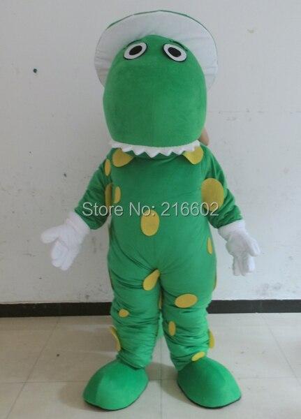 Green Dragon Dinosaur mascot costume fancy dress cosplay costumes  carnival costume kits