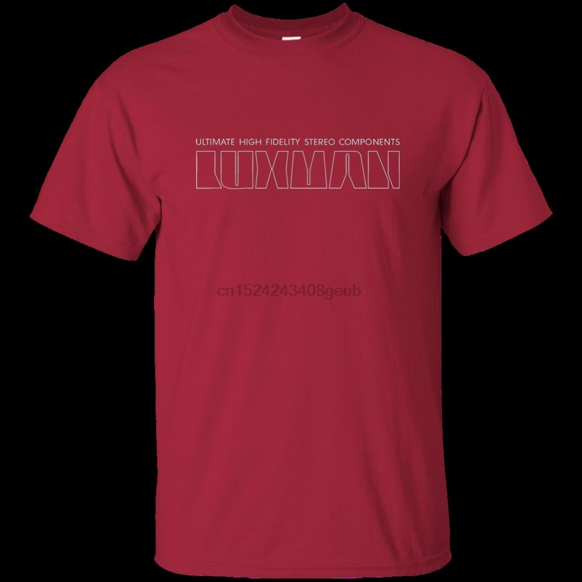 Camiseta componentes estéreo luxman-g200 ultra algodão