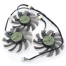 3 pièces/lot T128010SU 4Pin 0.35A carte graphique ventilateur refroidisseur pour Gigabte GeForce GTX770 760 680 en remplacement
