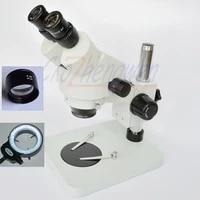 7x 90x 3 5x 45x table pillar stand zoom magnification binocular stereo microscope144pcs led