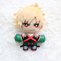 15 CENTÍMETROS Anime Meu Herói Academia Izuku Midoriya Katsuki Bakugou Shouto Todoroki pingente Plush Soft toy Stuffed dolls Presente