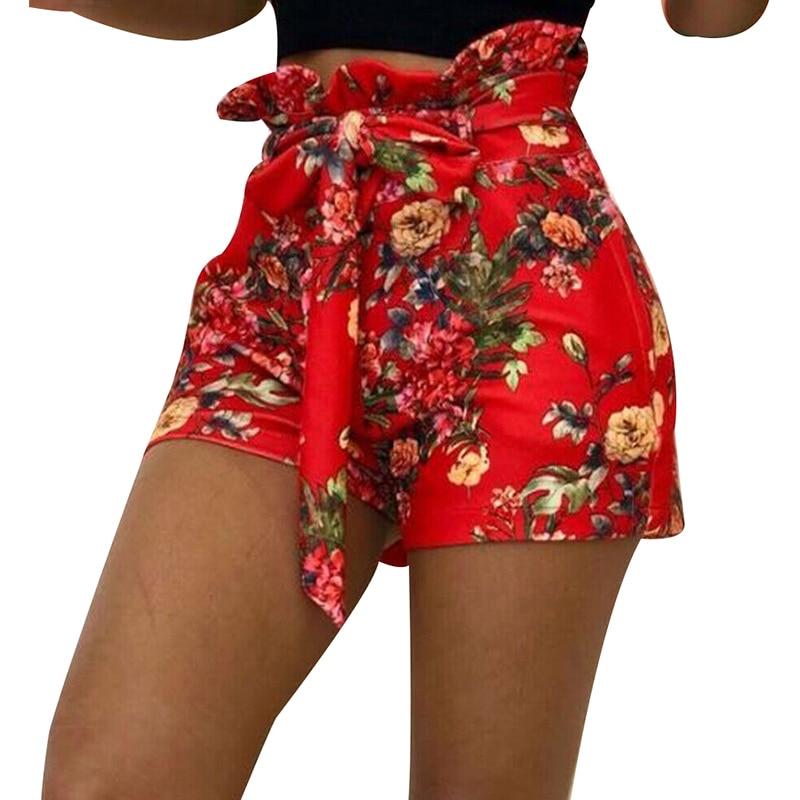 Pantalones cortos de verano para mujer, estilo Casual, cintura alta, pantalones cortos QL en oferta