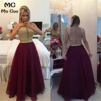 arabian 2021 burgundy prom dresses robe de soiree see though top appliques pearls prom party evening dress for women